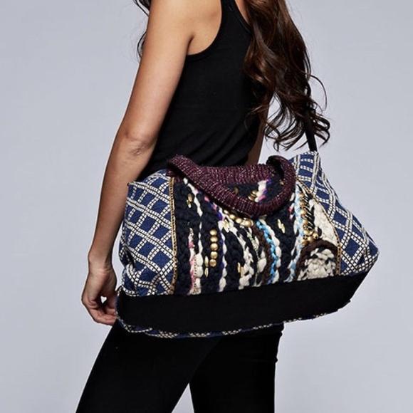 9f31785801f5 Boho Tassel Weekender Travel Tote Bag. Boutique. Love Stitch
